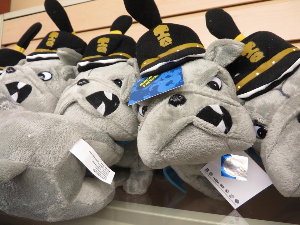 Stuffed Bulldog mascot