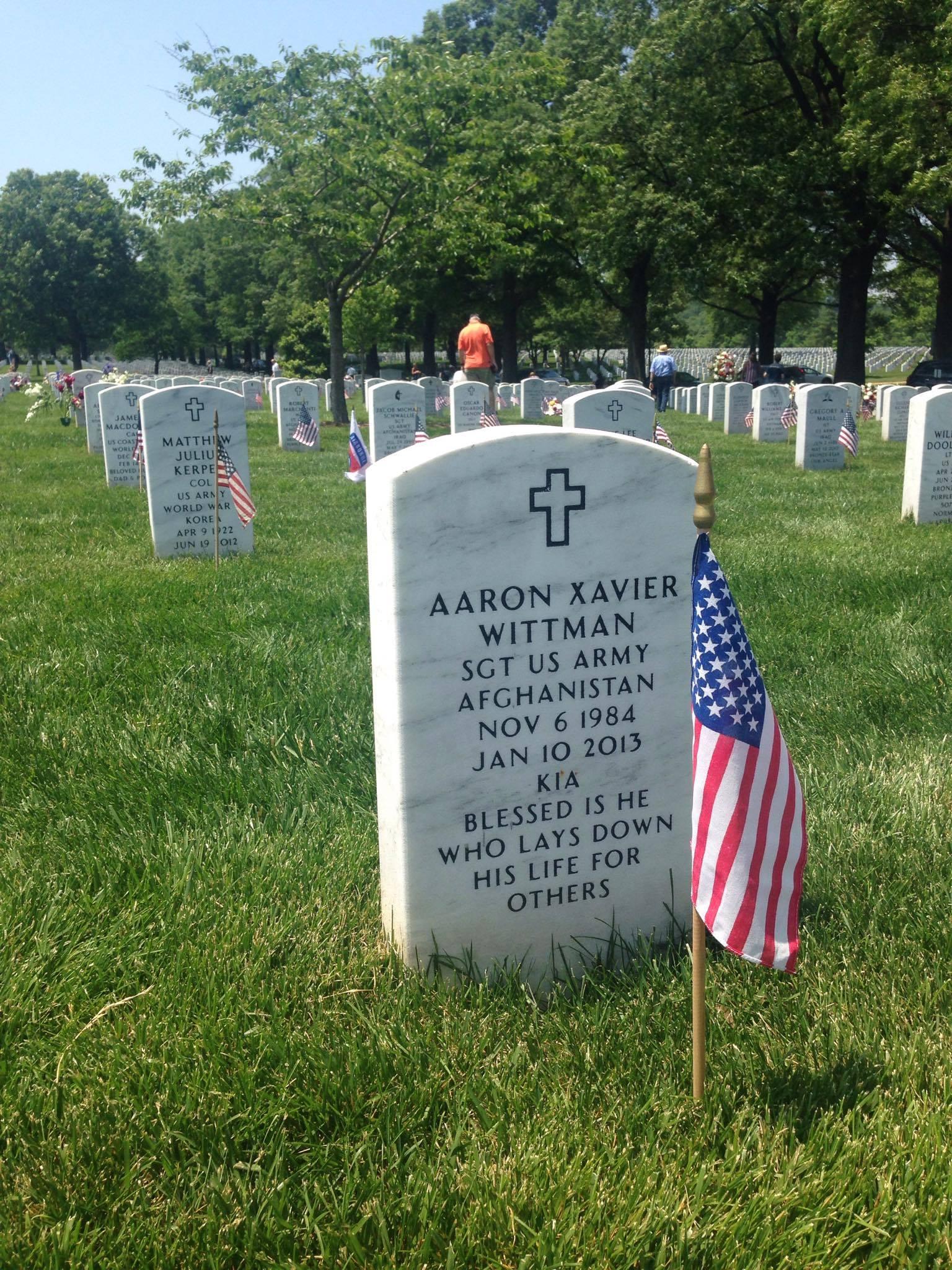 Wittman grave Arlington